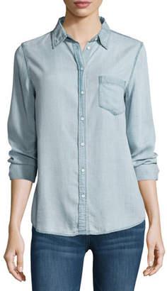 DL1961 Premium Denim Mercer & Spring Chambray Shirt, Bleach $178 thestylecure.com