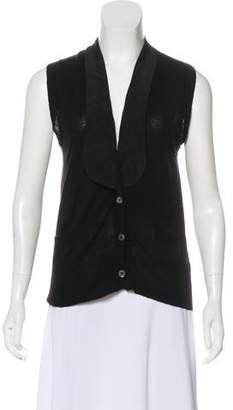 L'Agence Merino Wool Knit Cardigan