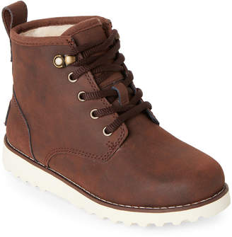 UGG Kids Boys) Mahogany Maple II Lined Boots