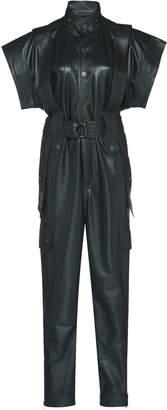 Dundas Leather Jumpsuit With Belt