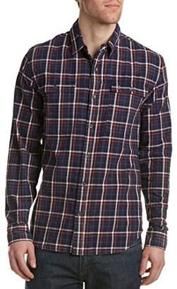 True Religion Men's Workwear Plaid Long Sleeve Button Down Shirt