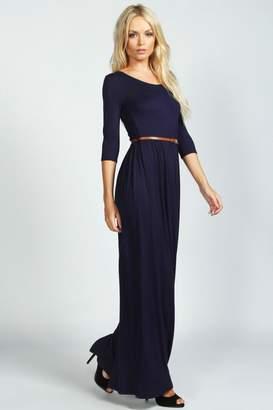 boohoo Scoop Neck Elasticated Waist Maxi Dress