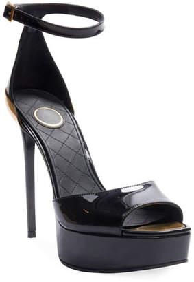 Balmain Pippa Patent Platform Sandals