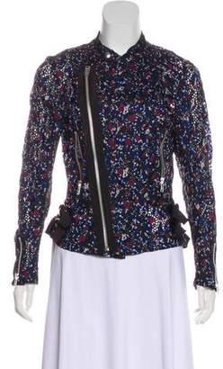 Sacai Crochet Floral Appliqué Jacket