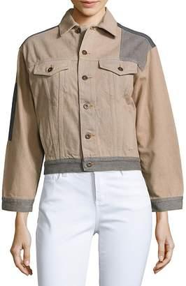 McQ Women's Cotton Patchwork Jacket