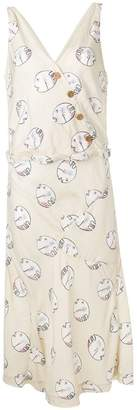 Visvim fish patterned asymmetric dress