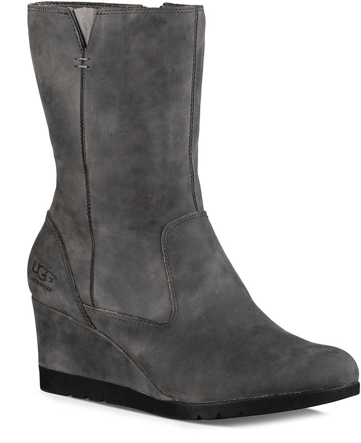 UGG Charcoal Joely Leather Boot - Women