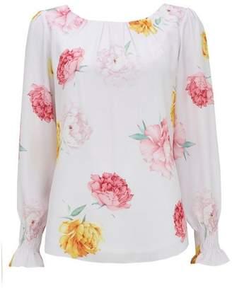 Wallis Ivory Floral Print Long Sleeve Top