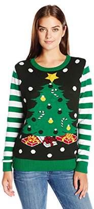 Ugly Christmas Sweater Women's Light-up Christmas Tree Sweater