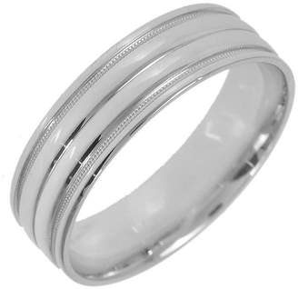 JCPenney MODERN BRIDE 10K White Gold Womens Milgrain 5mm Wedding Band