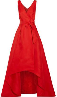 Oscar de la Renta - Woven Silk Wrap Gown - Red $5,290 thestylecure.com