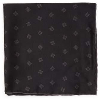 Givenchy 4g Logo Print Silk Twill Pocket Square - Mens - Black