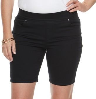 Croft & Barrow Petite Pull-On Bermuda Jean Shorts