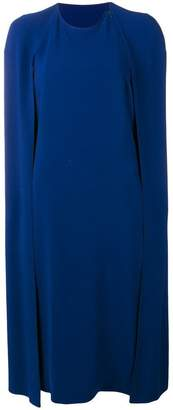 Stella McCartney crepe cape dress