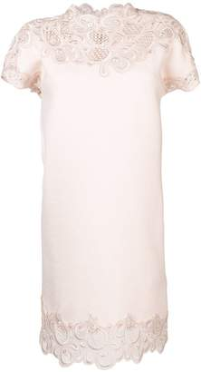 Ermanno Scervino lace trim shift dress