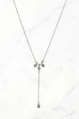 Luv Aj Silver Moroccan Stud Lariat Choker Necklace