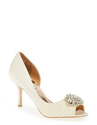 Badgley Mischka Pearson Embellished d'Orsay Pump - Wide Width Available