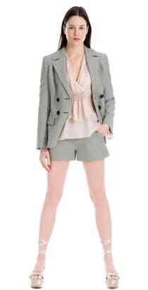 Max Studio silk mesh chiffon blouse