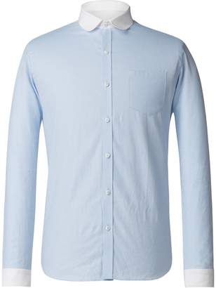 Gibson Men's Pale Blue Penny Round Shirt