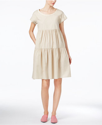 Weekend Max Mara Snack Cotton Shift Dress $350 thestylecure.com