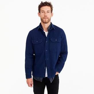 Wallace & Barnes dobby shirt in true indigo