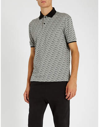 Bally Logo-print cotton-piqué polo shirt
