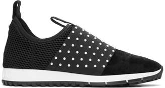 Jimmy Choo Black Suede Oakland Sneakers