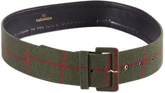 Valentino Vintage Khaki Cloth Belts