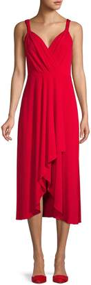 DKNY V-Neck High-Low Dress