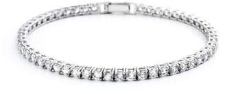 Crislu Sterling Silver Crystal Tennis Bracelet
