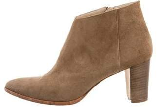 Manolo Blahnik Brusta Suede Ankle Booties