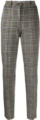 Cambio checked high waisted trousers