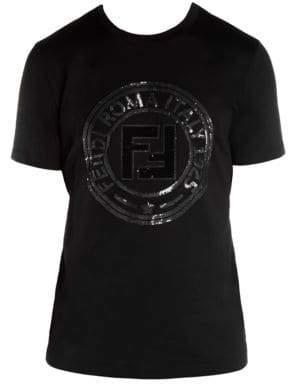 Fendi Cotton Circle Logo T-Shirt