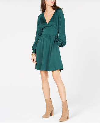 Michael Kors V-Neck Fit & Flare Dress, In Regular & Petite Sizes