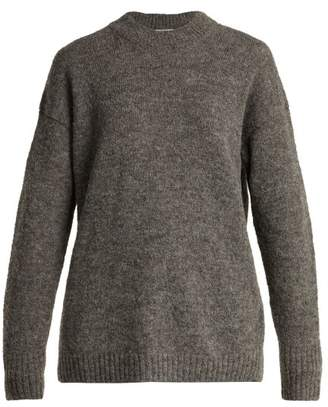 Tibi Dropped Sleeve Wool Blend Sweater - Womens - Grey