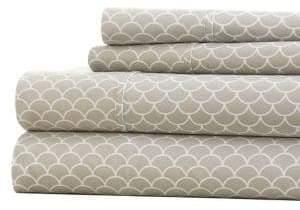 Blissful Bedding Premium Ultra Soft Four-Piece Scallops-Pattern Bed Sheet Set