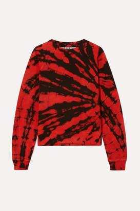 Proenza Schouler Tie-dyed Cotton-terry Sweatshirt - Red