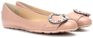 Jimmy Choo Ginny leather ballerinas
