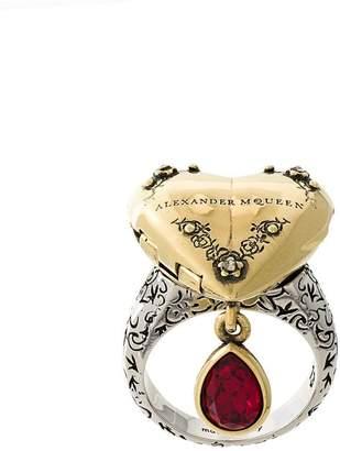 Alexander McQueen heart locket ring