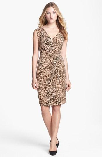 Chaus Faux Wrap Animal Print Dress