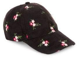 Collection 18 Embroidered Floral Felt Cap
