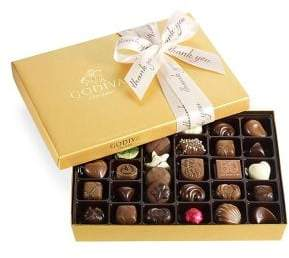 Godiva Chocolatier 36-Piece Assorted Chocolate Gold Gift Box, Thank You Ribbon