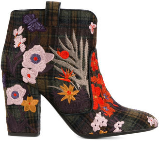 Laurence Dacade 'Pete' embroidered ankle boots $734.25 thestylecure.com