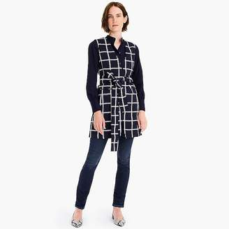 Sleeveless blazer in windowpane everyday crepe