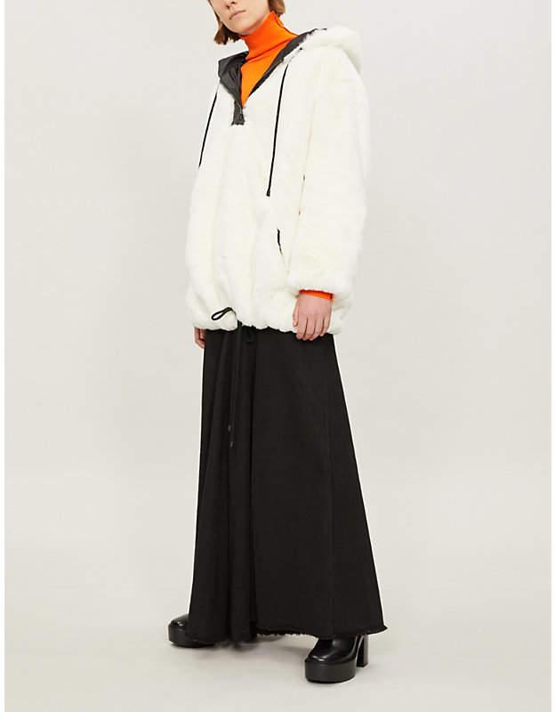 BIANNUAL Oversized faux-fur jacket