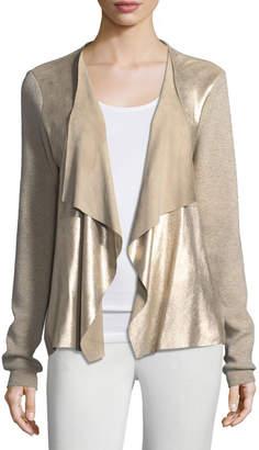 Elie Tahari Richardson Metallic-Knit Sweater