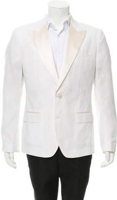 Dolce & Gabbana Linen Two-Button Tuxedo Jacket