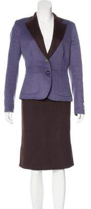 Les Copains Wool Reversible Skirt Suit
