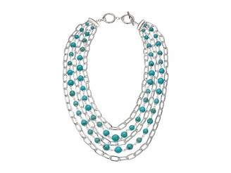 Lauren Ralph Lauren Turquoise Multi Row Necklace 18