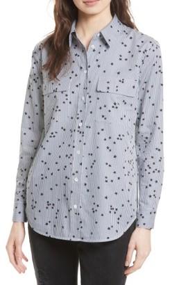 Women's Equipment Signature Stripe Cotton Shirt $228 thestylecure.com